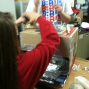Clark Moores Middle School students working on the Solar Oven project.