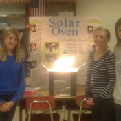 Corbin Independent students with their Solar Oven project.